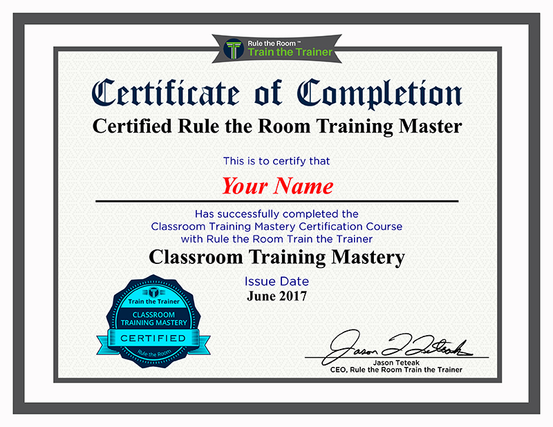Train The Trainer Certification Program Training Plans Train The