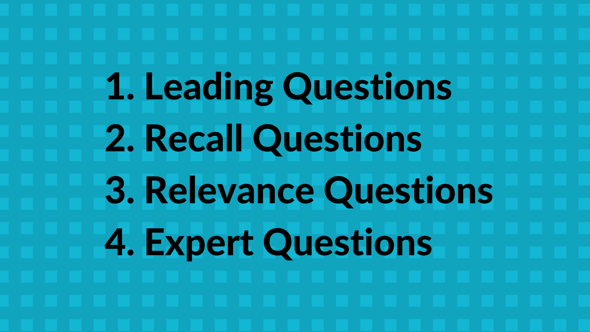 Create Good Leading Questions