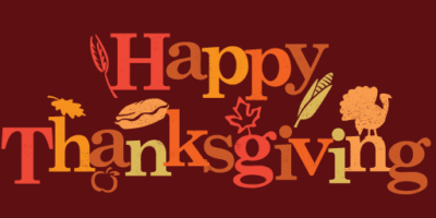 To all of our community….We'd like to say Happy Thanksgiving!
